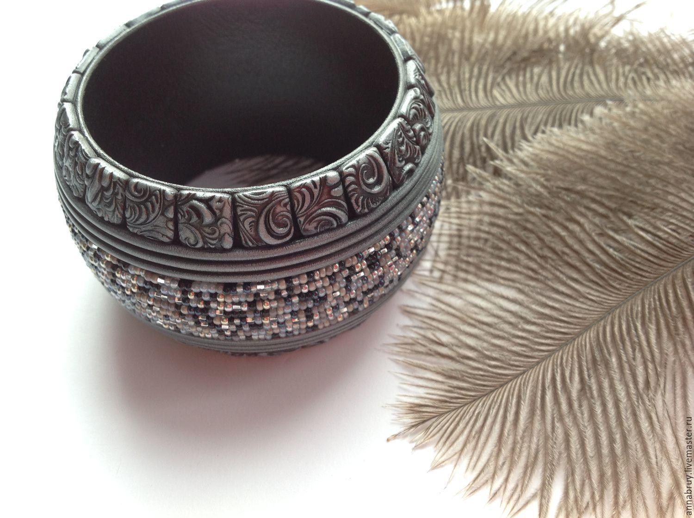 Мастер класс полимерная глина браслет на деревянной основе