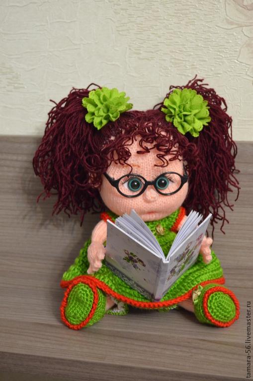 """Человечки ручной работы. Ярмарка Мастеров - ручная работа. Купить Куколка вязаная """"Верочка"""". Handmade. Разноцветный, кукла на заказ, Пупсик"""