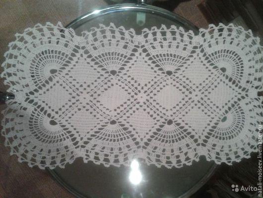 Текстиль, ковры ручной работы. Ярмарка Мастеров - ручная работа. Купить Салфетка вязаная кружевная. Handmade. Белый, винтажный стиль