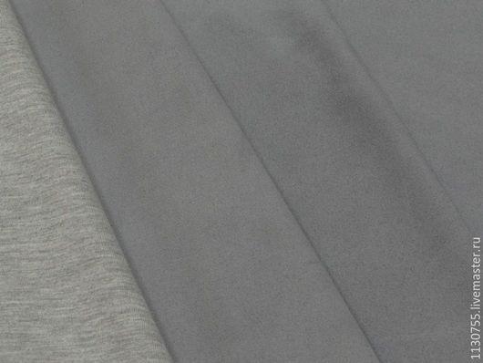 Шитье ручной работы. Ярмарка Мастеров - ручная работа. Купить Новинка!  Ткань трикотаж замша одежная серый. Handmade. Мятный