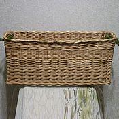 Для дома и интерьера ручной работы. Ярмарка Мастеров - ручная работа Короб плетеный прямоугольный из ивовой лозы с кокосовыми ручками. Handmade.