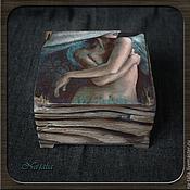Для дома и интерьера ручной работы. Ярмарка Мастеров - ручная работа Шкатулка-короб для украшений Ангел (2). Handmade.
