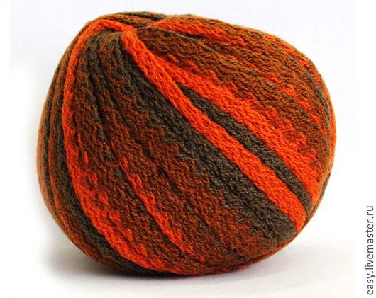 Вязание ручной работы. Ярмарка Мастеров - ручная работа. Купить Пряжа Карнавал (рюша) на шарфы. Handmade. Комбинированный, терракотовый, оранжевый
