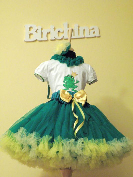 Одежда для девочек, ручной работы. Ярмарка Мастеров - ручная работа. Купить Новогодний костюм ЦАРЕВНА ЛЯГУШКА. Handmade. Зеленый