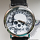 """Часы ручной работы. Ярмарка Мастеров - ручная работа. Купить Часы наручные JK """"Череп"""". Handmade. Часы наручные купить"""