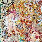 Картины и панно handmade. Livemaster - original item Decorative panels, art Nouveau and modern Spring, Summer, Autumn, Winter. Handmade.