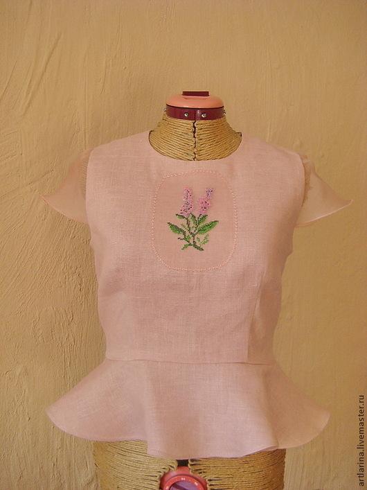 """Блузки ручной работы. Ярмарка Мастеров - ручная работа. Купить Блузка """" Прованс"""". Handmade. Розовый, розовая блузка"""