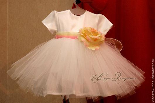 Одежда для девочек, ручной работы. Ярмарка Мастеров - ручная работа. Купить Нарядное платье на 1 годик. Handmade. Белый, кремовый