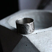 Украшения ручной работы. Ярмарка Мастеров - ручная работа Широкое кольцо из мельхиора. Handmade.
