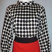 Одежда ручной работы. Ярмарка Мастеров - ручная работа Блузка (--- 30%) из креп - шифона, размер 46-48. Handmade.