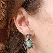 Украшения handmade. Livemaster - original item 10 silver Earrings with carnelian, malachite, lapis. Handmade.