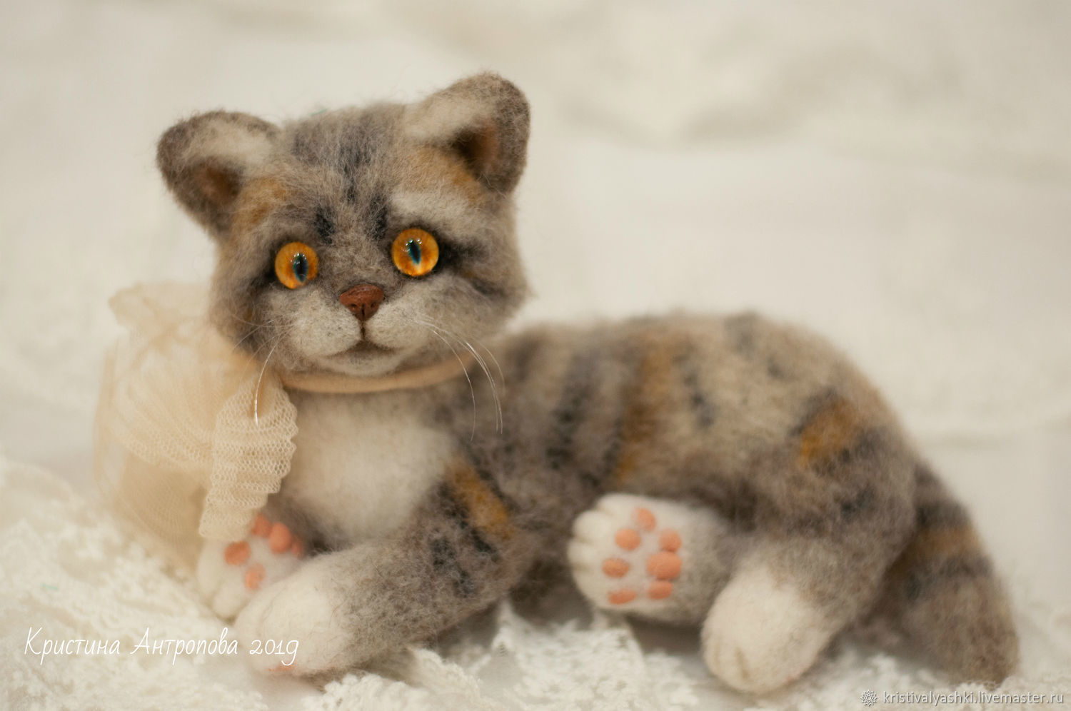Felted toy kitten Martin, Felted Toy, Severodvinsk,  Фото №1