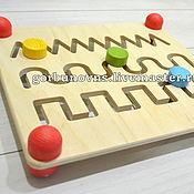 Куклы и игрушки handmade. Livemaster - original item Table Maze Montessori. Handmade.