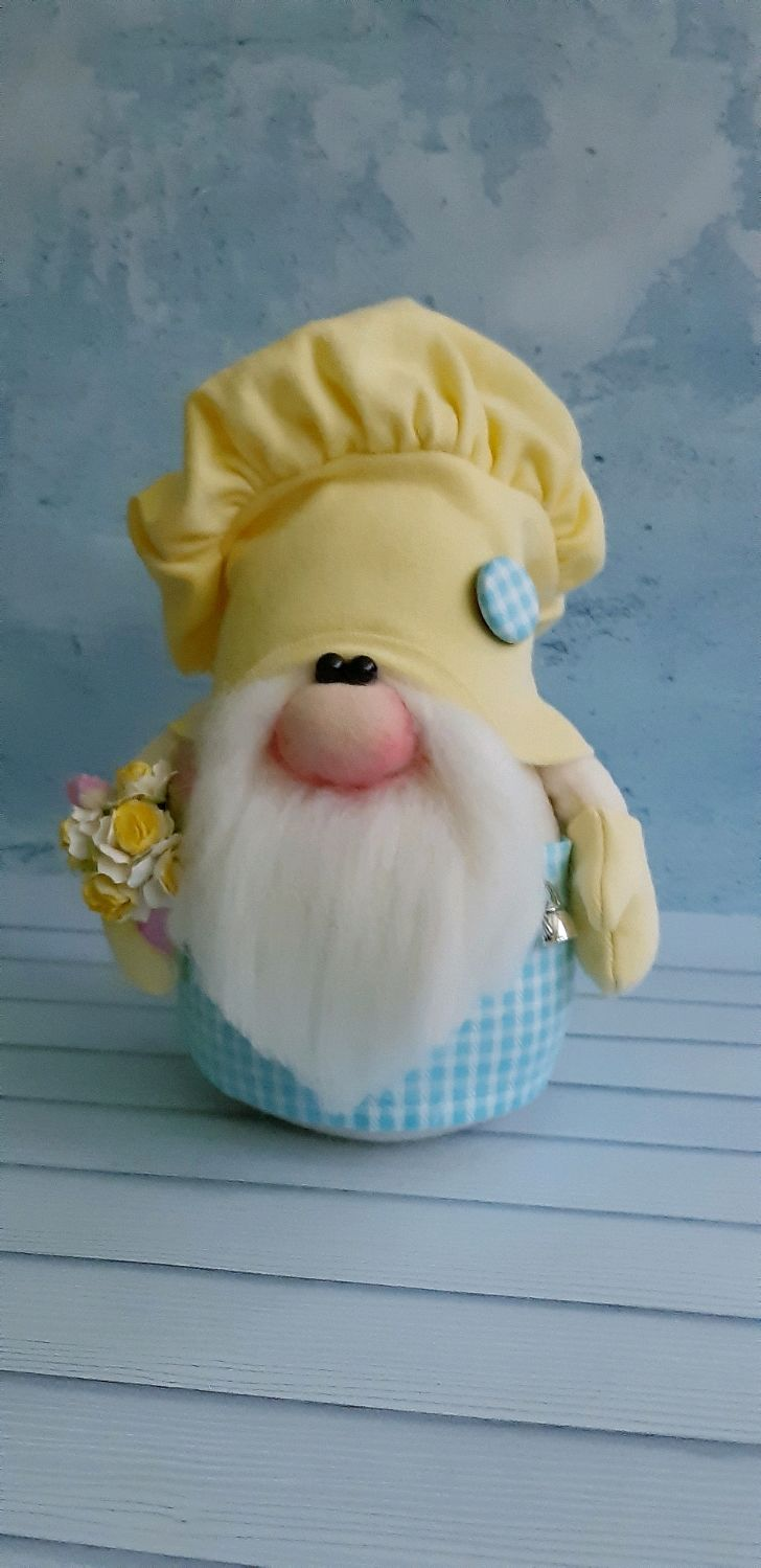 Гном Повар в жёлтом колпаке, Интерьерная кукла, Новороссийск,  Фото №1