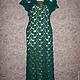 """Платья ручной работы. Ярмарка Мастеров - ручная работа. Купить Платье """"Изумруд"""". Handmade. Морская волна, платье, крючок"""