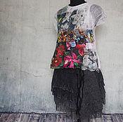 """Одежда ручной работы. Ярмарка Мастеров - ручная работа Блузка """"Все цветы твои"""", натуральный шелк. Handmade."""