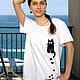 Футболки, майки ручной работы. Женская футболка Latte. Лариса (EnigmaStyle). Ярмарка Мастеров. Женская одежда