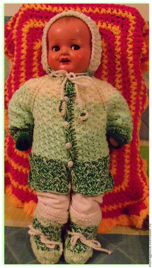 Одежда ручной работы. Ярмарка Мастеров - ручная работа. Купить комплект для малыша. Handmade. Комбинированный, ручное вязание, одежда для кукол