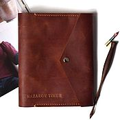 Канцелярские товары handmade. Livemaster - original item Leather diary pocket hand sewn seam. Handmade.