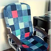 Для дома и интерьера handmade. Livemaster - original item Denim chair cover. Handmade.