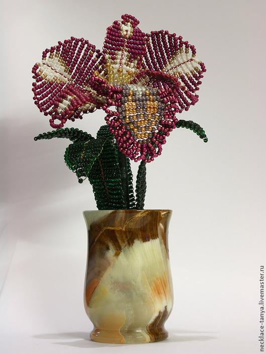 Цветы ручной работы. Ярмарка Мастеров - ручная работа. Купить Бисерная Орхидея Каттлея Кеа. Handmade. Бисерное дерево