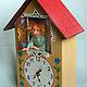 Часы для дома ручной работы. Кукла Домовой Яшка  - хранитель часов. Александрова Стася. Ярмарка Мастеров. Часы интерьерные
