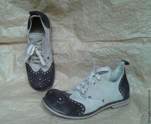 Обувь ручной работы. Ярмарка Мастеров - ручная работа. Купить Ботинки Vice Versa. Handmade. Башмачки, ботинки, замшевый