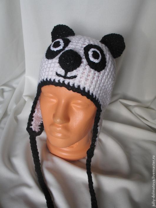 Шапки и шарфы ручной работы. Ярмарка Мастеров - ручная работа. Купить шапка Панда. Handmade. Белый, шапка с ушками