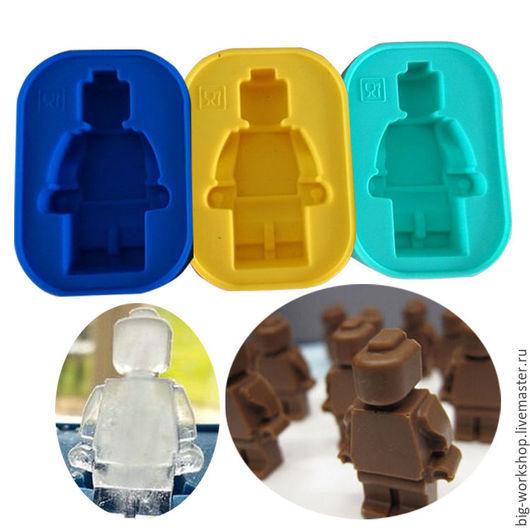 """Другие виды рукоделия ручной работы. Ярмарка Мастеров - ручная работа. Купить Силиконовая форма  """"Лего Человечек"""". Handmade."""