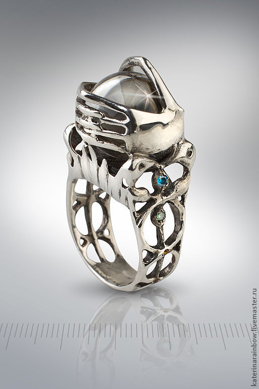 A silver ring for tool Soothsayers, Ritual attributes, St. Petersburg,  Фото №1