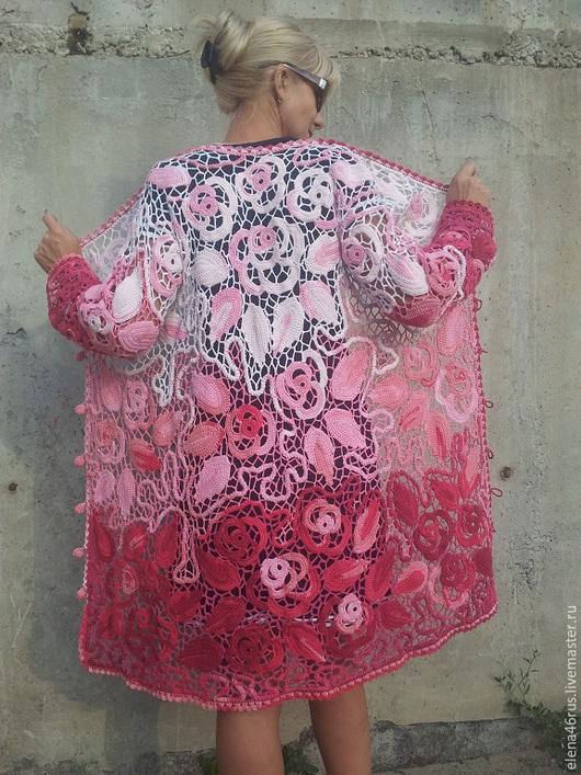 """Верхняя одежда ручной работы. Ярмарка Мастеров - ручная работа. Купить Летнее пальто """"Фантазия из роз"""". Handmade. Разноцветный"""