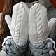 """Варежки, митенки, перчатки ручной работы. Заказать Рукавички  """"Белый снег"""". Просто Тамара (prosto-tamara). Ярмарка Мастеров. Варежки"""