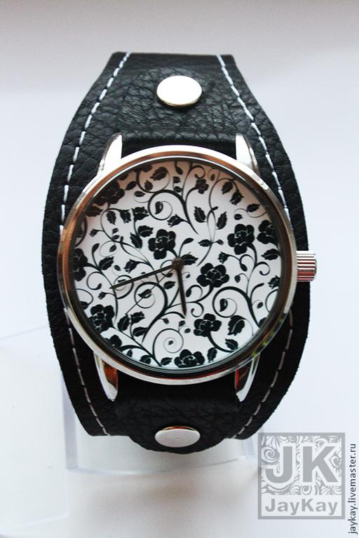 """Часы ручной работы. Ярмарка Мастеров - ручная работа. Купить Часы наручные JK """"Ч/б узоры"""". Handmade. Часы наручные"""
