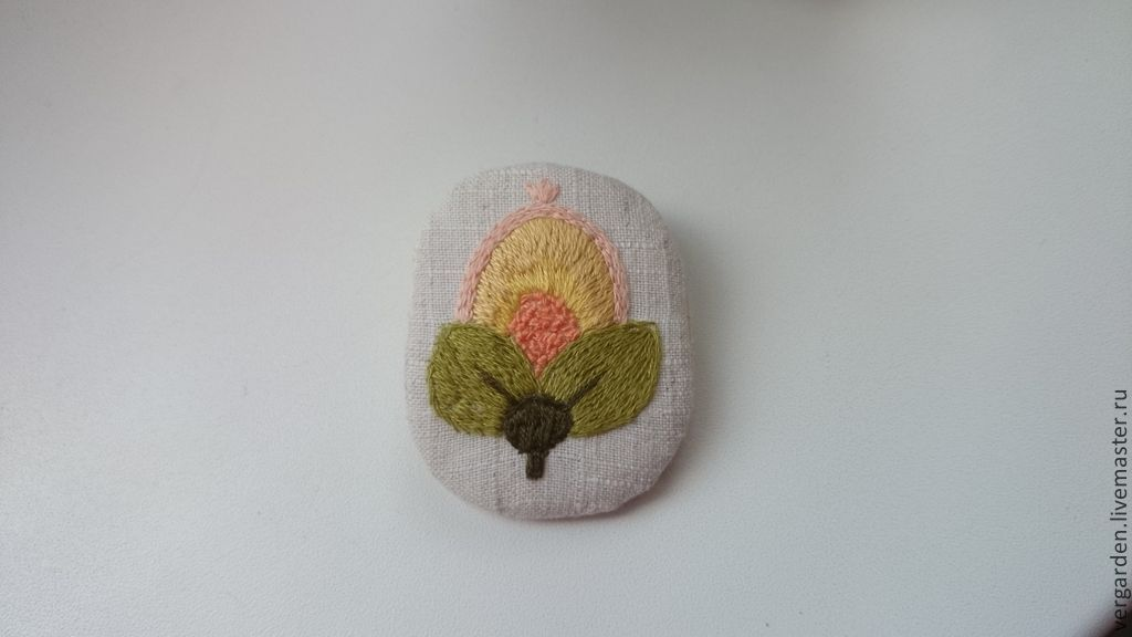 Brooches embroidered 'Jacobean embroidery', Brooches, Azov,  Фото №1