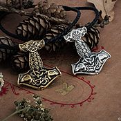 handmade. Livemaster - original item Thor`s Hammer Amulet. Mjollnir. Mjollnir. Viking amulet. bronze silver.. Handmade.
