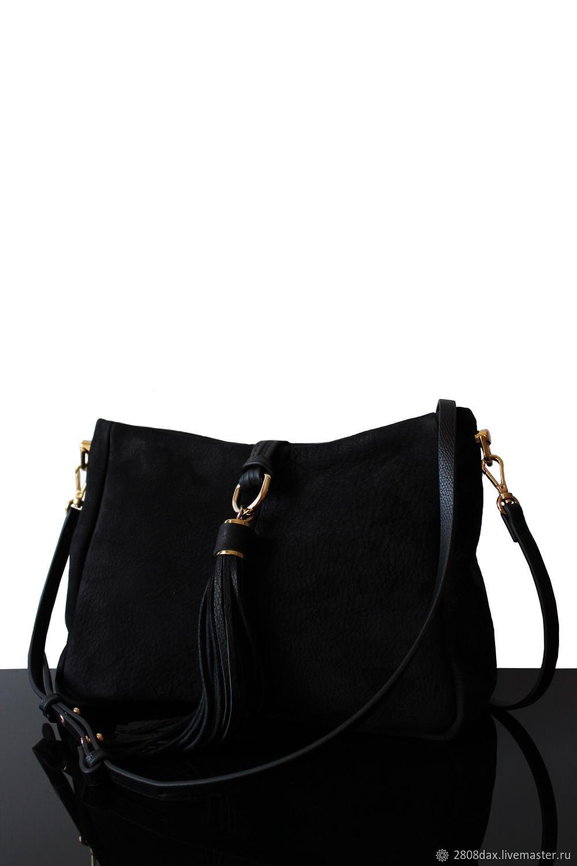Suede Handbags Black