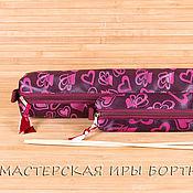 Материалы для творчества ручной работы. Ярмарка Мастеров - ручная работа Чехол, пенал, органайзер для длинных спиц, купить. Handmade.