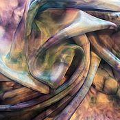"""Аксессуары ручной работы. Ярмарка Мастеров - ручная работа Шелковый платок """"Морской бриз"""". Handmade."""