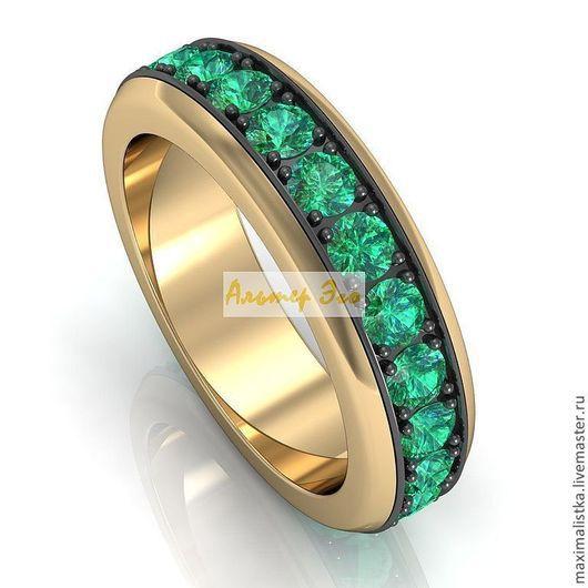AE 004E Y/B\r\n\r\nИзумруды\r\nЖелтое золото 585* и покрытие черным родием на вращающемся кольце