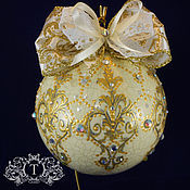 Подарки к праздникам handmade. Livemaster - original item Christmas ball Vintage. Handmade.