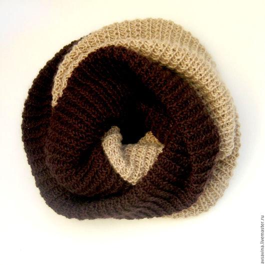 Шарфы и шарфики ручной работы. Ярмарка Мастеров - ручная работа. Купить Женский вязаный снуд шарф труба хомут на голову. Handmade.