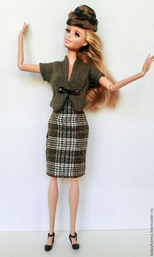 Одежда для кукол ручной работы. Ярмарка Мастеров - ручная работа. Купить Дыхание осени. Handmade. Оливковый, жакет, осенняя одежда