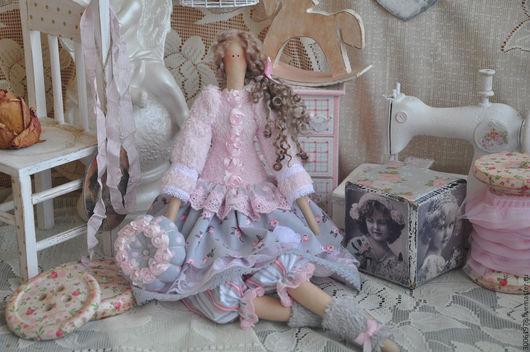 """Куклы Тильды ручной работы. Ярмарка Мастеров - ручная работа. Купить Кукла в стиле Тильда """"Розовая дымка"""". Handmade."""