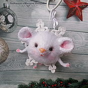 Stuffed Toys manualidades. Livemaster - hecho a mano Mouse(mouse-Christmas ball). Handmade.
