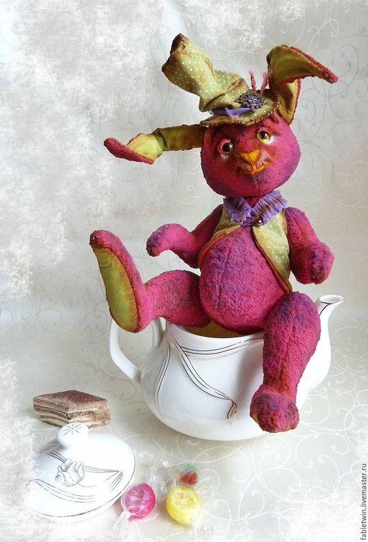 Мишки Тедди ручной работы. Ярмарка Мастеров - ручная работа. Купить Заяц тедди. Мартовский заяц (Безумное чаепитие). Handmade.