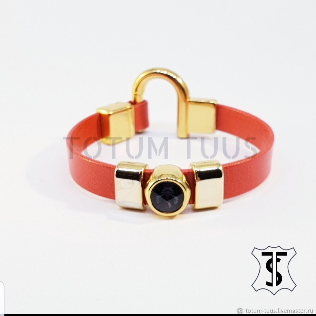 Designer leather bracelet Art:18000186, Bead bracelet, Prague,  Фото №1