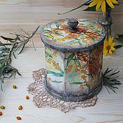 """Для дома и интерьера ручной работы. Ярмарка Мастеров - ручная работа """"Солнечная ягода. Облепиха"""" короб. Handmade."""