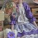 """Куклы Тильды ручной работы. Заказать Кукла в стиле тильда """"Скромная петуния"""". Светлана Решмет  'ТильДуши'. Ярмарка Мастеров."""