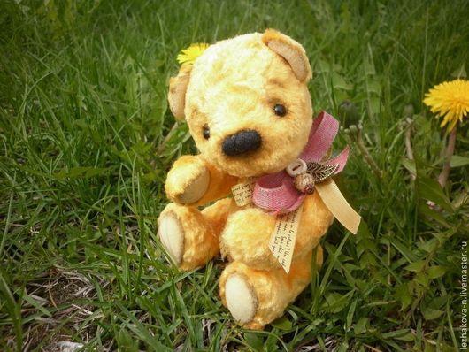 Мишки Тедди ручной работы. Ярмарка Мастеров - ручная работа. Купить Пусть всегда будет Солнце..... Handmade. Оранжевый, шерсть
