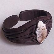 Bead bracelet handmade. Livemaster - original item Bracelet with agate leather. Handmade.